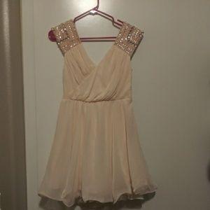 Semi formal peach bling dress sz 3